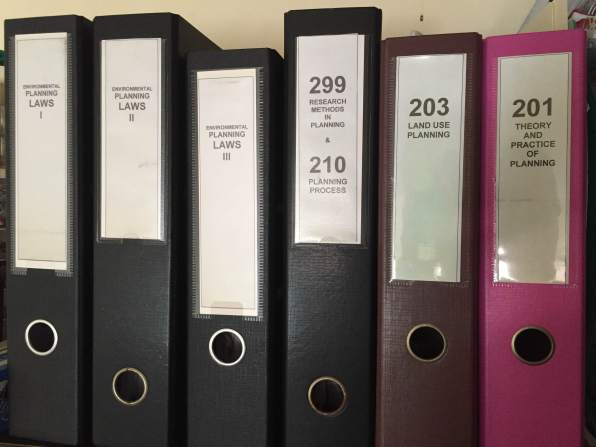 Filing and using binders