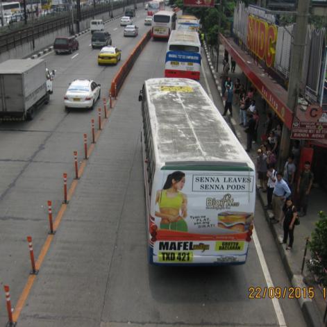 Actual delineators seen in EDSA. Source: DPWH