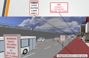 Bus lane signage. Source: DPWH