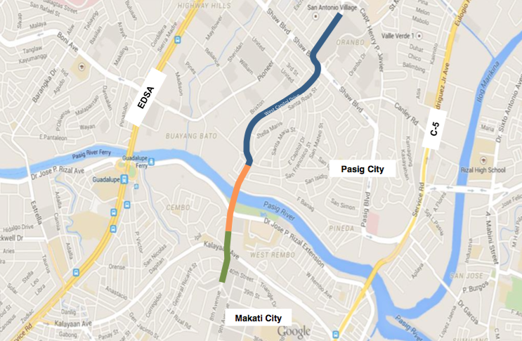 The Center Link road project location plan. Source: DPWH