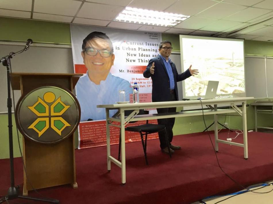 Benjamin dela Pena's public talk at UP SURP