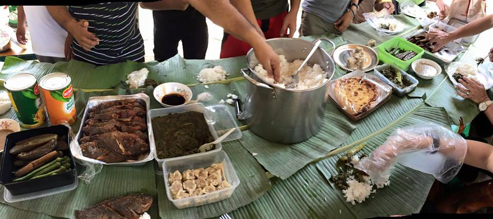 Our boodle feast lunch