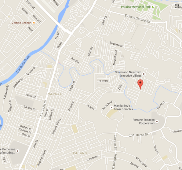 Banaba's proximity to the Marikina River