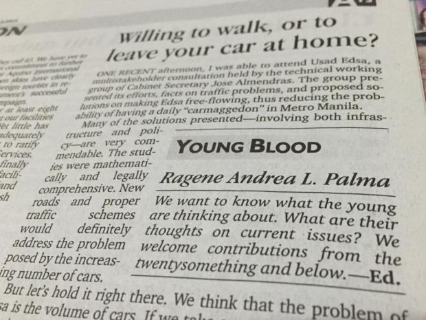 My Young Blood Column