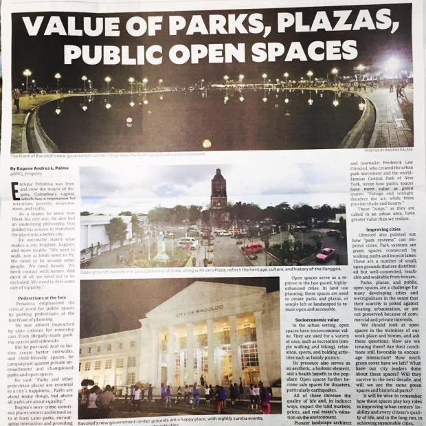 inq value of public parks